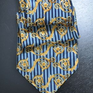 RECENT & ORNATE Versace Blue & Navy Tie